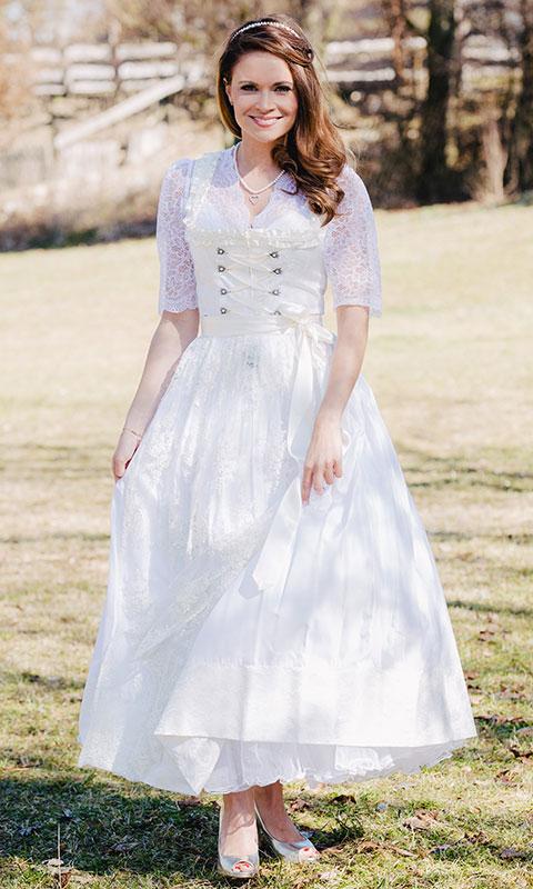 Brautkleid weiß, lang