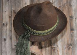 Trachtenhut Braun mit grüner Kordel