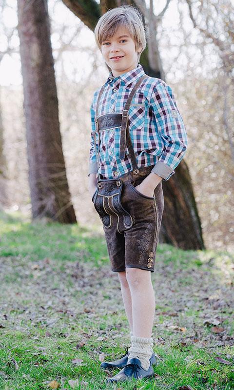 Lederhose Jungen, Trachtenhemd