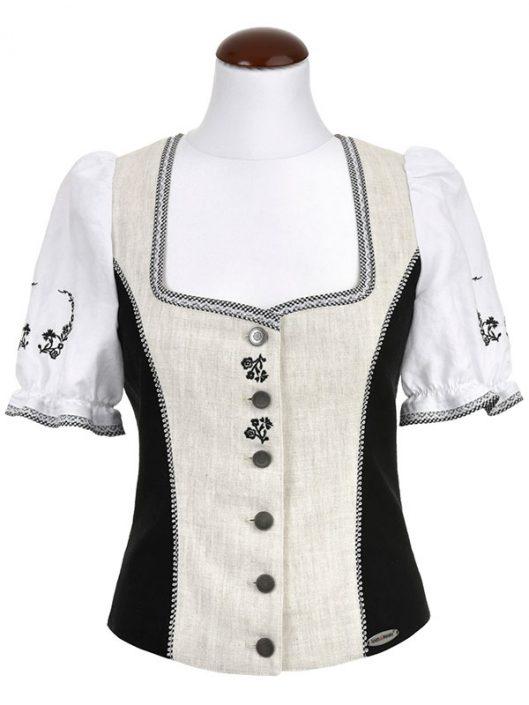 Spieth & Wendsky: Bluse Antiqua Schwarz Natur Weiß