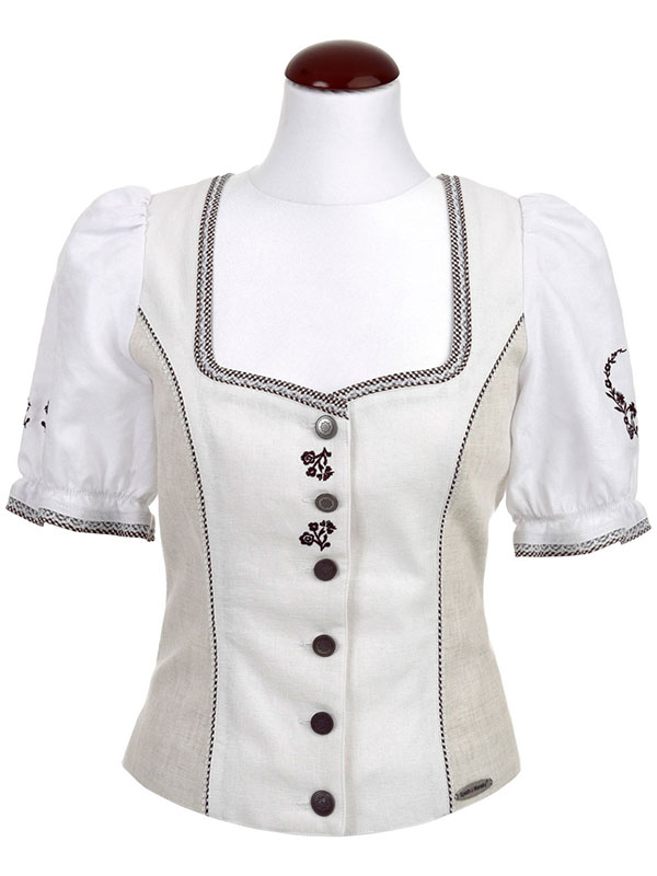 Spieth & Wendsky: Bluse Antiqua Natur Weiß