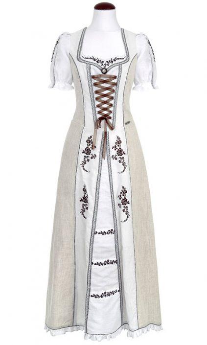 Spieth & Wendsky: Kleid Ascona Natur Weiß