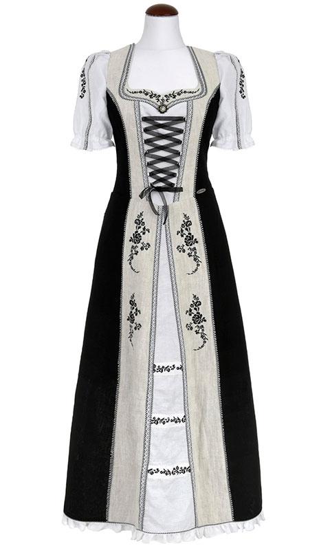 Spieth & Wendsky: Kleid Ascona Schwarz Natur Weiß