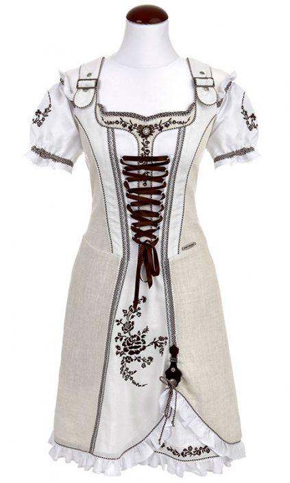 Spieth & Wendsky: Kleid Asmara Natur Weiß