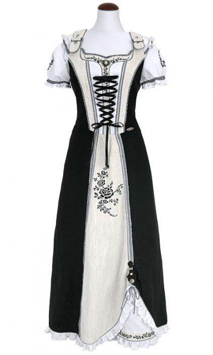 Spieth & Wendsky: Kleid Asmara Schwarz Natur Weiß