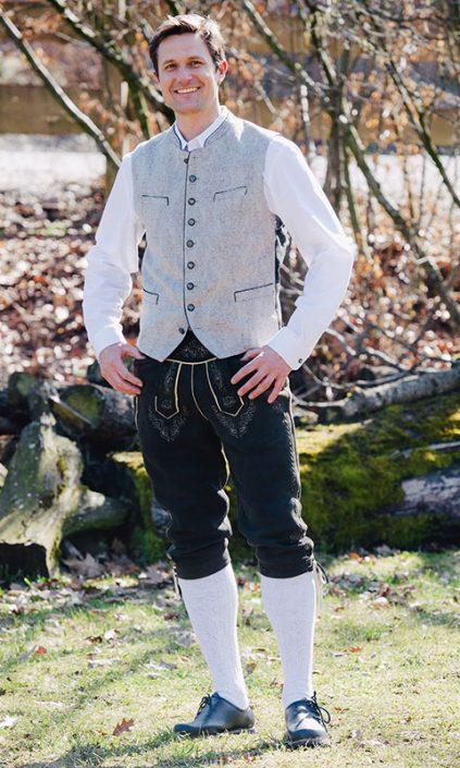 Weste & sämische Hirschlederhose