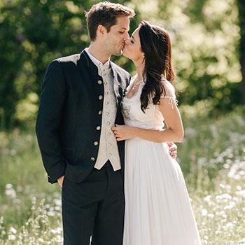 Trachten-Hochzeit, festliche Tracht