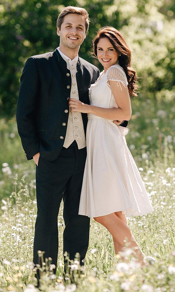 Hochzeitskleid lang und kurz tragbar
