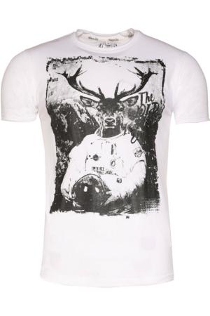 Marjo T-Shirt Woid weiß