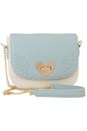 Damen-Handtasche mintfarben, Lady Edelweiß