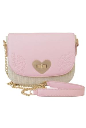 Damen-Handtasche rosa, Lady Edelweiß
