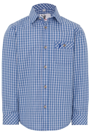 Jungenhemd Nacherl blau