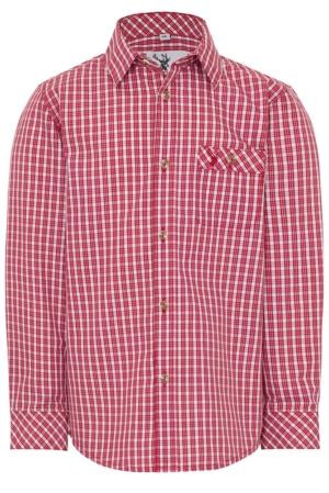 Jungenhemd Nacherl rot