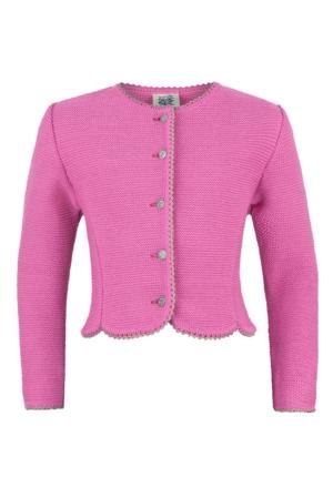 Mädchenstrickjacke pink