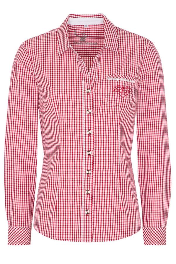 Bluse Kandada rot-weiß, Spieth & Wensky